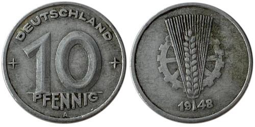 10 пфеннигов 1948 «А» ГДР