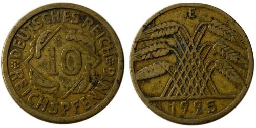 10 рейхспфеннигов 1925 «D» Германия