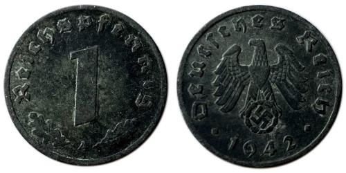 1 рейхспфенниг 1942 «A» Германия