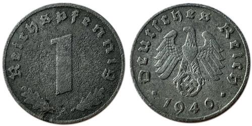 1 рейхспфенниг 1940 «А» Германия — Цинк