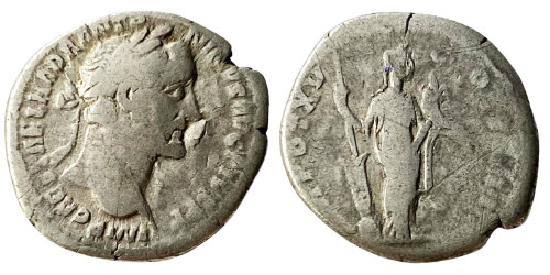 Денарий — Антонин Пий (Фортуна) — серебро
