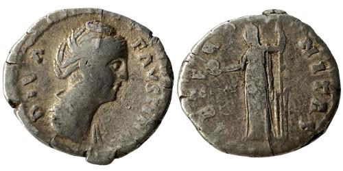 Денарий — Фаустина I (Этернитас) — серебро