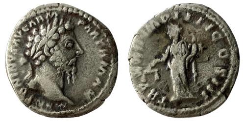 Денарий 161 — 181 г. н.е. — Марк Аврелий (Эквитас) — серебро