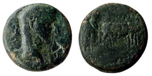 Асс 161 — 181 г. н.е. — Октавиан Август — медь