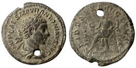 Денарий 218 — 222 г. н.е. — Эллагабал (Фидес) — серебро