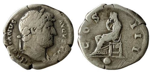 Денарий 117 — 138 г. н.е. — Адриан — (Пудиция) — серебро