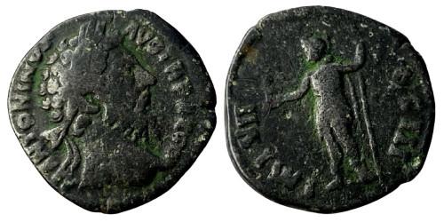 Лимесный денарий 161 — 181 г. н.е. — Марк Аврелий (Виртус)