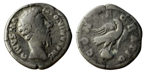 Лимесный денарий 161 — 181 г. н.е. — Марк Аврелий (Посмертный)