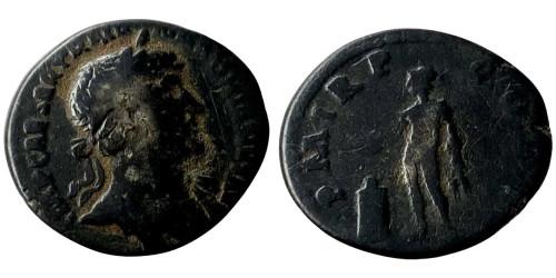 Лимесный денарий 117 — 138 г. н.е. — Адриан — (Гений)