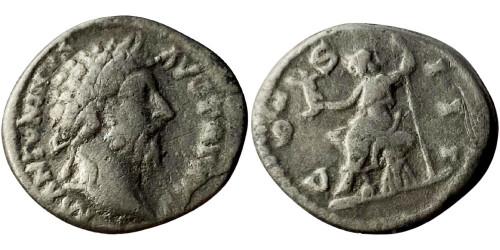 Лимесный денарий 161 — 181 г. н.е. — Марк Аврелий (Рома) №1