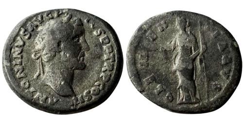Лимесный денарий 138 — 161 г. н.е. — Антонин Пий (Клементия)