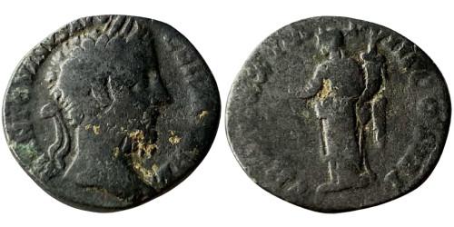 Лимесный денарий 161 — 181 г. н.е. — Марк Аврелий (Пакс)