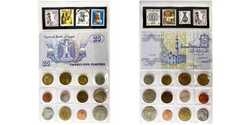 Египет — сувенирный набор из монет, банкнот и марок