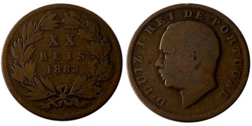 20 реалов 1883 Португалия