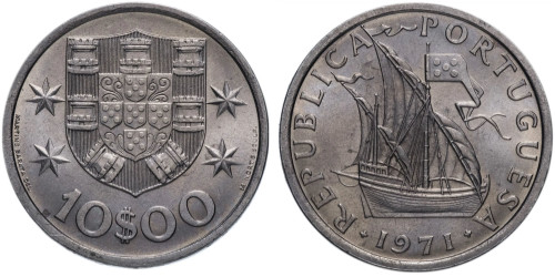 10 эскудо 1971 Португалия