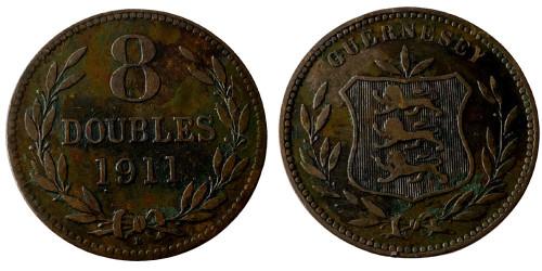8 дублей 1911 остров Гернси