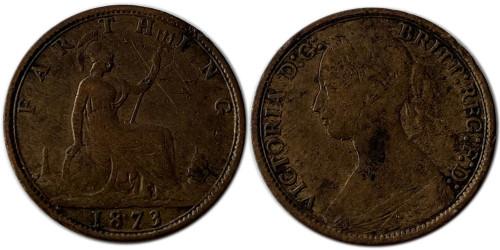 1 фартинг 1873 Великобритания