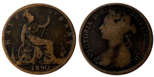 1/2 пенни 1890 Великобритания