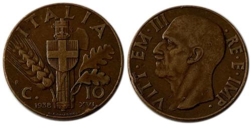 10 чентезимо 1938 Италия