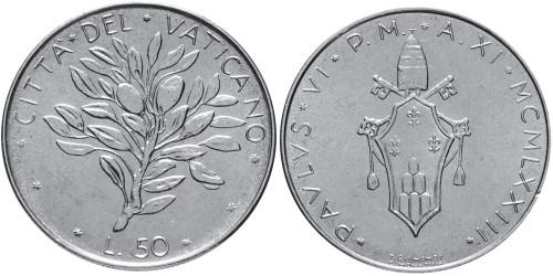 50 лир 1970 Ватикан — MCMLXX