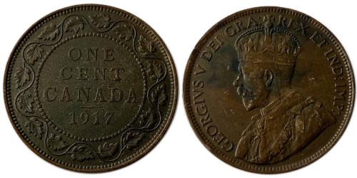 1 цент 1917 Канада