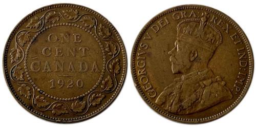 1 цент 1920 Канада