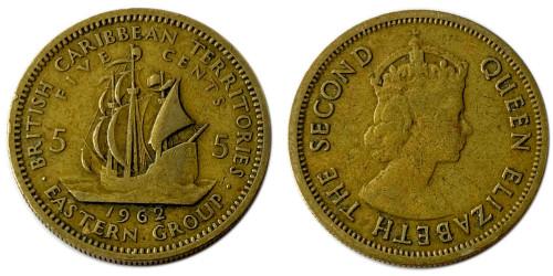 5 центов 1962 Восточные Карибы