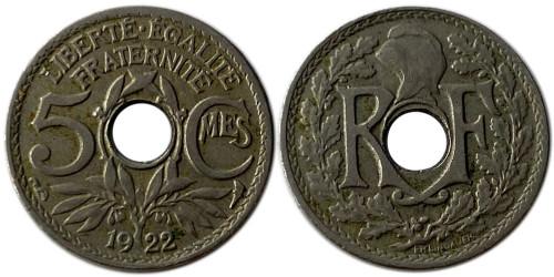 5 сантимов 1922 Франция