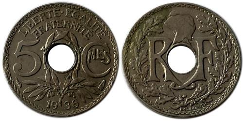 5 сантимов 1936 Франция
