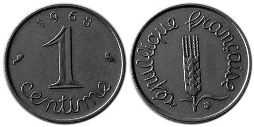 1 сантим 1968 Франция