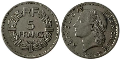 5 франков 1935 Франция