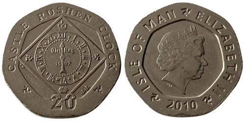 20 пенсов 2010 остров Мэн — Отметка AA на реверсе