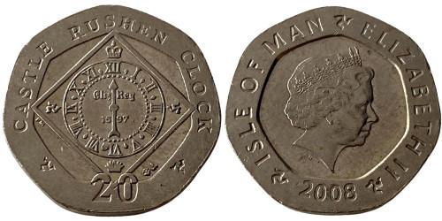 20 пенсов 2008 остров Мэн — Отметка ВА на реверсе