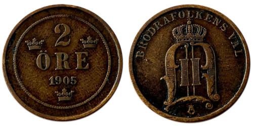 2 эре 1905 Швеция