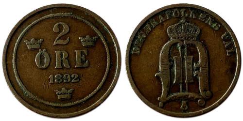 2 эре 1892 Швеция