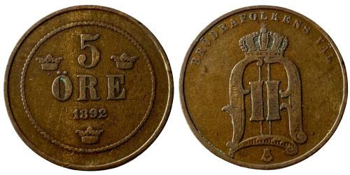 5 эре 1892 Швеция