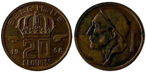 20 сантимов 1958 Бельгия (FR)