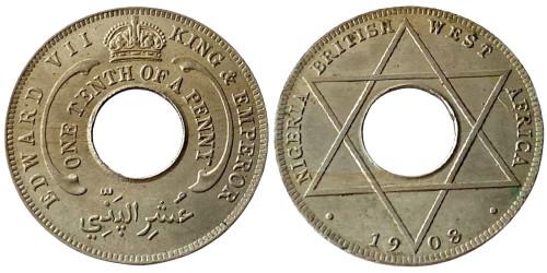 1/10 пенни 1908 Британская Западная Африка