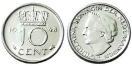 10 центов 1948 Нидерланды