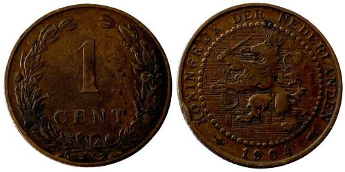 1 цент 1904 Нидерланды