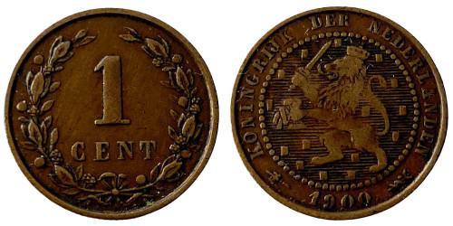 1 цент 1900 Нидерланды