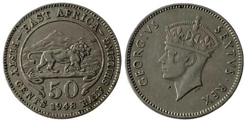 50 центов 1948 Британская Восточная Африка