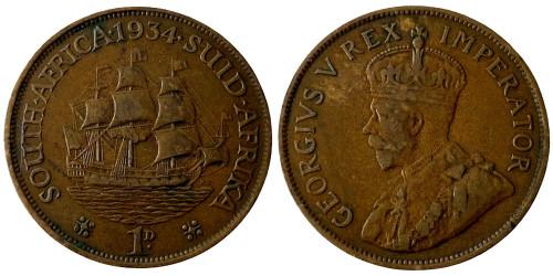 1 пенни 1934 ЮАР