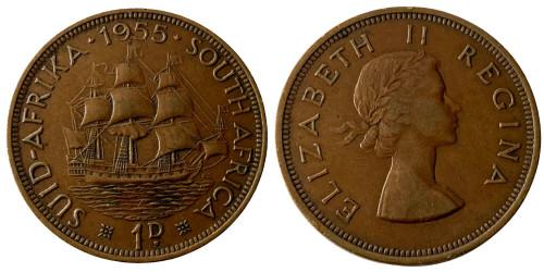 1 пенни 1955 ЮАР