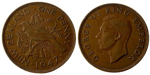 1 пенни 1947 Новая Зеландия