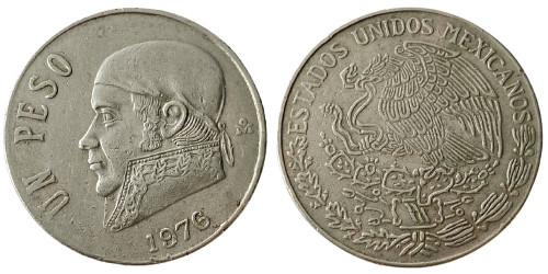 1 песо 1976 Мексика