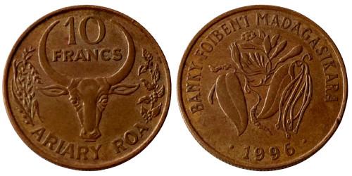 10 франков 1996 Мадагаскар