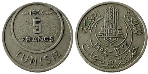 5 франков 1954 Тунис