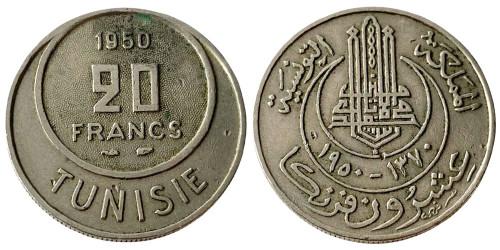 20 франков 1950 Тунис