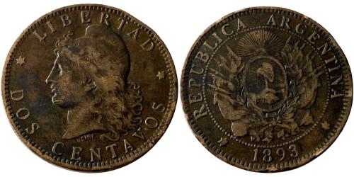 2 сентаво 1893 Аргентина